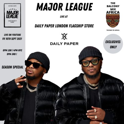 Major League – Amapiano Balcony Mix Africa (Live in London) S3 EP 8